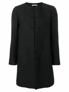 Miu Miu bow detailed coat - Black