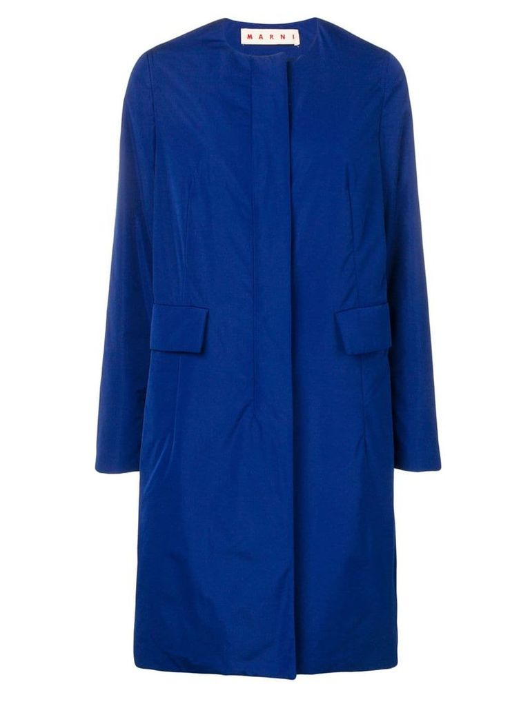Marni single-breasted fitted coat - Blue