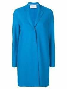 Harris Wharf London Cocoon single breasted coat - Blue