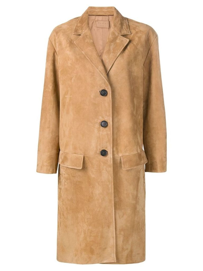 Prada mid-length coat - Neutrals