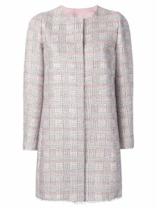 Emporio Armani long tweed coat - Pink