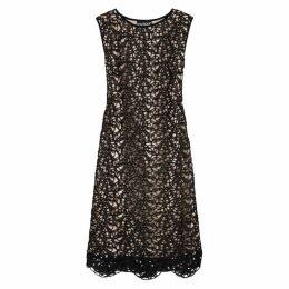Boutique Moschino Black Crochet Lace Midi Dress