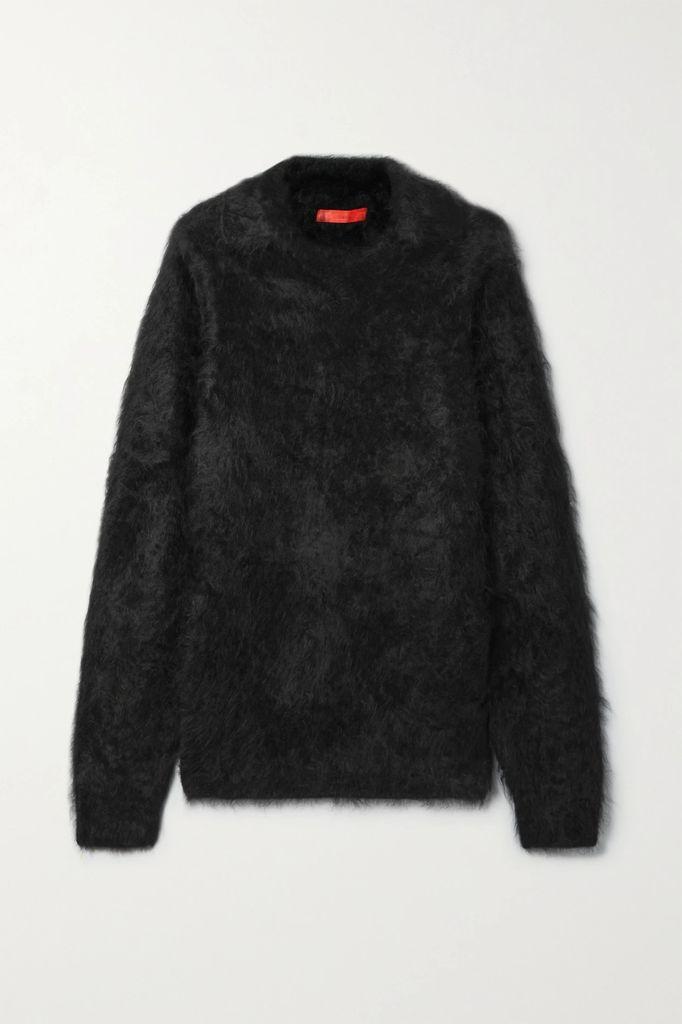 Balmain - Button-embellished Frayed Tweed Coat - Beige