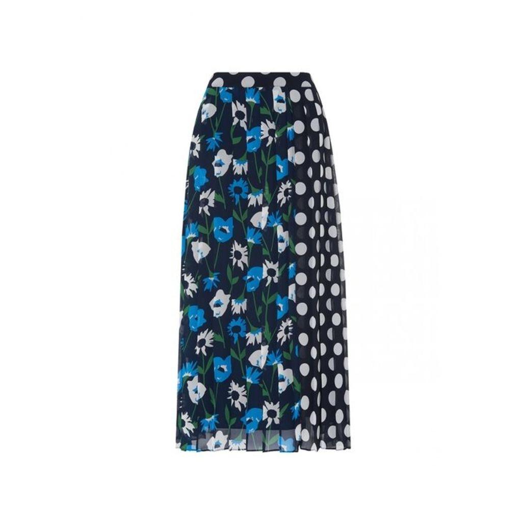 Kitri Lavinia Spot Print Pleated Skirt