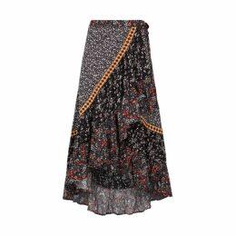 Free People Esmeralda Floral-print Wrap Skirt
