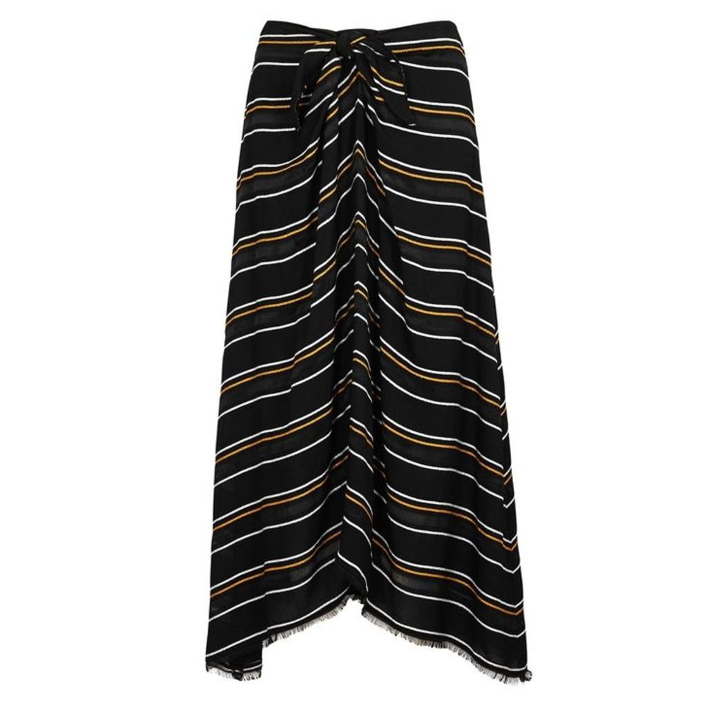 Proenza Schouler Black Striped Midi Skirt