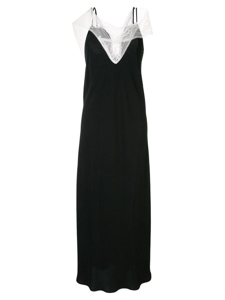 Christopher Esber lace panel evening dress - Black