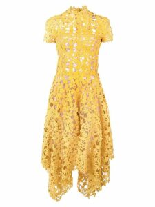 Oscar de la Renta floral crochet dress - Yellow