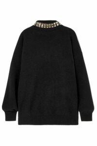Alexander Wang - Studded Wool-blend Turtleneck Sweater - Black