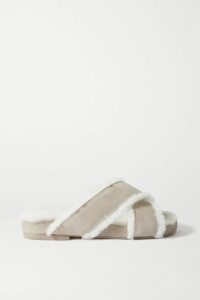 Roksanda - Two-tone Pleated Satin Midi Skirt - Orange