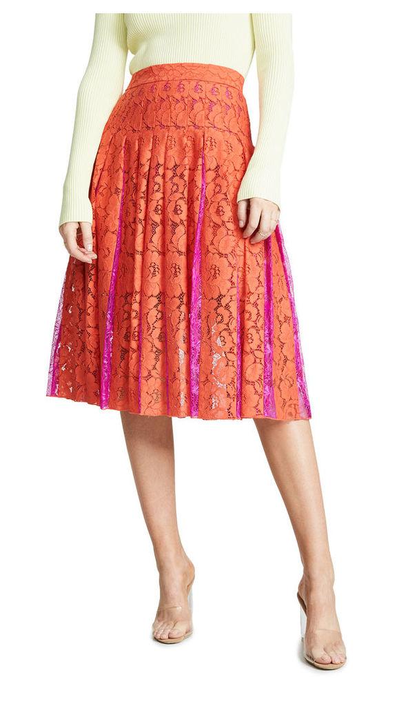 Diane von Furstenberg DVF Gardenia Lace Skirt