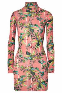 Vetements - Floral-print Stretch-jersey Mini Dress - Pink