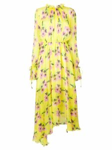 MSGM floral-print maxi dress - Yellow
