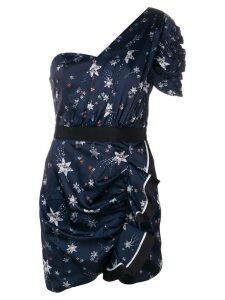 Self-Portrait star print mini dress - Blue