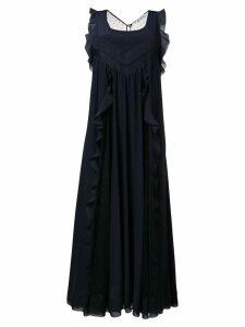 Red Valentino RED Valentino ruffled maxi dress - Blue