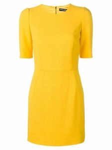 Dolce & Gabbana shortsleeved fitted dress - Yellow
