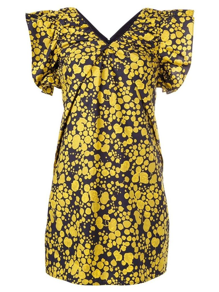 Victoria Victoria Beckham splatter print mini dress - Blue