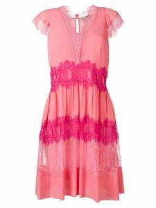 Twin-Set mini lace dress - Pink