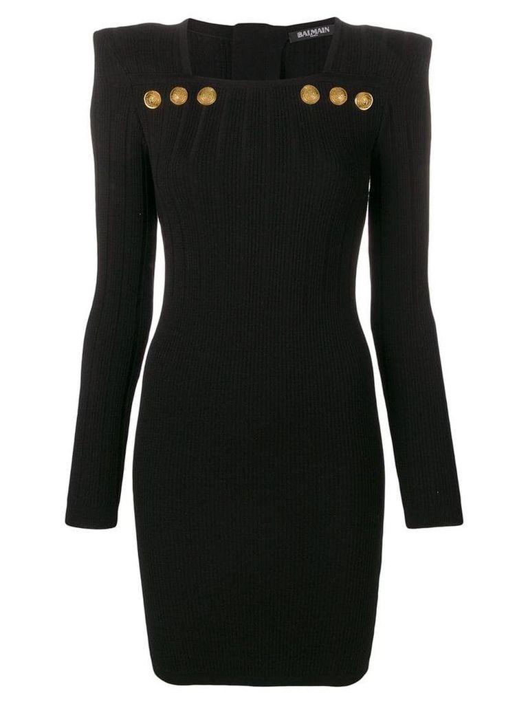 Balmain fitted knit mini dress - Black