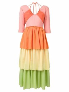 Rejina Pyo Cleo ombre crepe dress - Orange