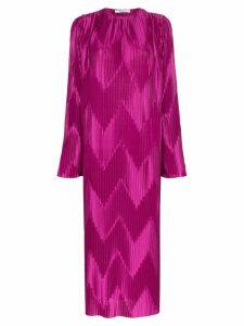 Givenchy Chevron pleat loose-fit dress - Purple