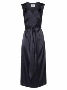 Nanushka Shanti satin knotted strap dress - Blue