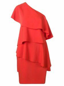LANVIN asymmetric ruffled party dress - Red
