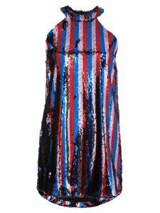 Halpern sequin embellished mini dress - Multicolour