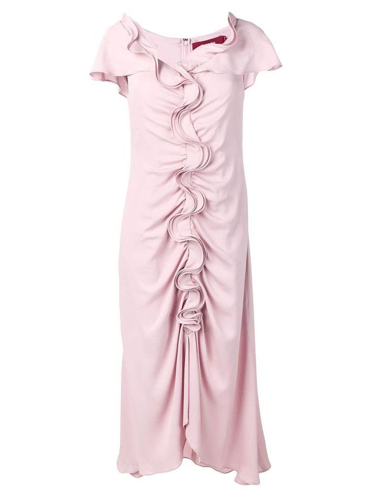 Sies Marjan ruffle flared dress - Pink