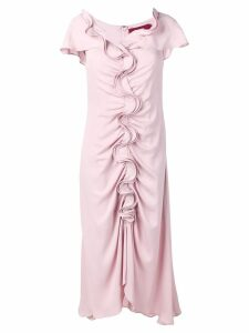 Sies Marjan ruffle flared dress - Pink