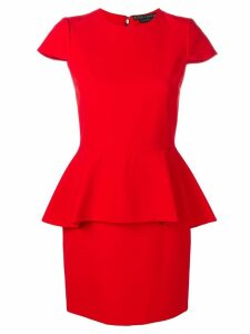 Alice+Olivia peplum fitted dress - Red