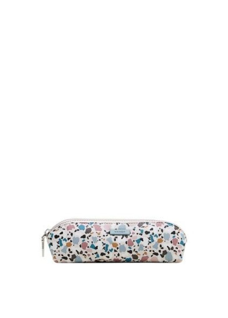 Geometric print pencil case