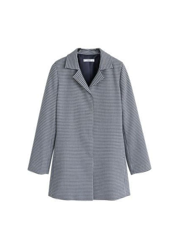 Structured houndstooth coat