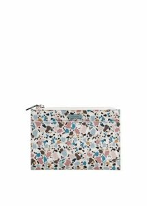 Geometric print cosmetic bag