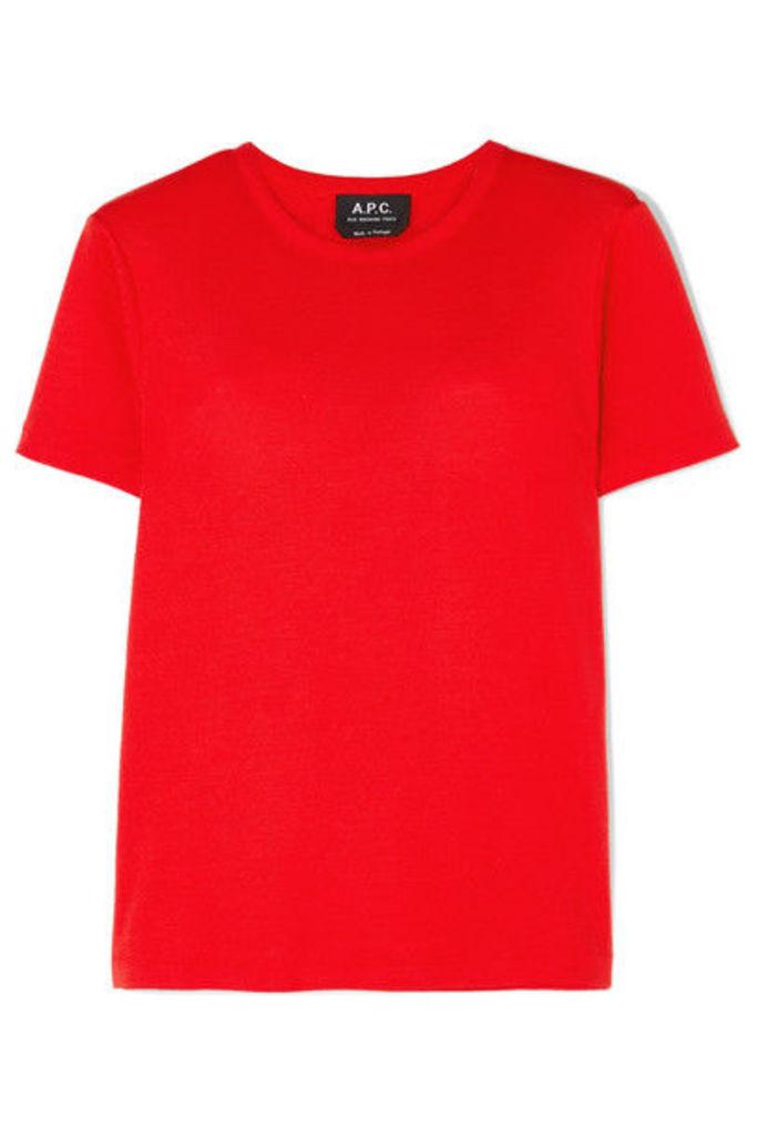 A.P.C. Atelier de Production et de Création - Cotton-jersey T-shirt - Red