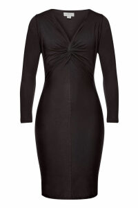 Velvet Morocco Cotton Dress with Knot Detail