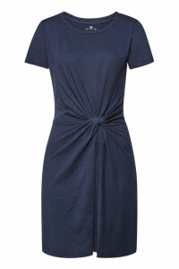 Velvet Briar Cotton Dress with Knot Detail
