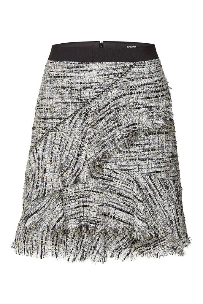 Karl Lagerfeld Boucle Skirt with Ruffles