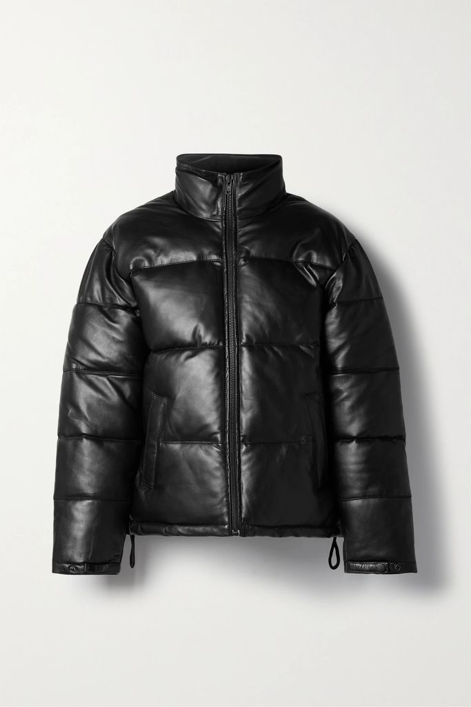 Balenciaga - Hourglass Double-breasted Wool-blend Gabardine Coat - Black