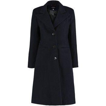De La Creme  Winter Semi Fitted Wing Collar Coat  women's Coat in Blue