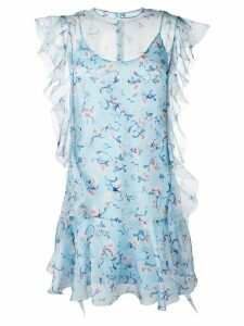 Ermanno Scervino floral print dress - Blue