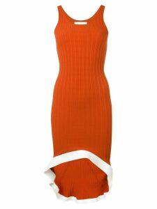 Esteban Cortazar ribbed tank dress - Orange
