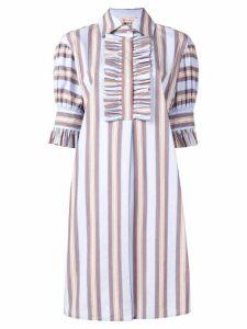 Tory Burch striped shirt dress - Blue