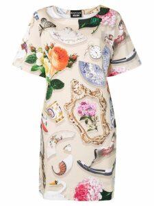 Boutique Moschino printed T-shirt dress - Neutrals