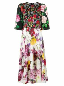 Dolce & Gabbana floral multi-print midi dress - Black