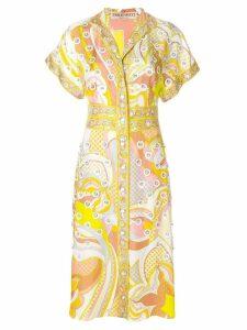 Emilio Pucci embellished printed midi shirt dress - Multicolour