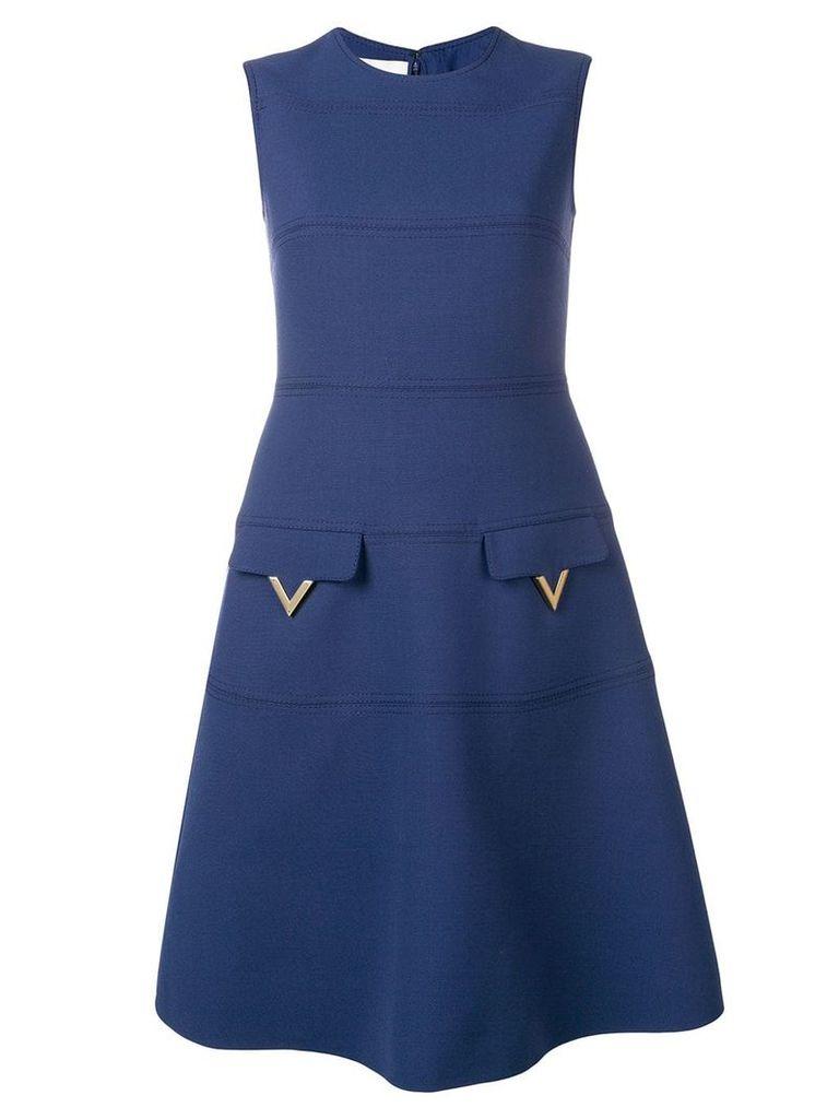 Valentino V hardware dress - Blue