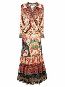 Camilla floral print maxi wrap dress - Multicolour