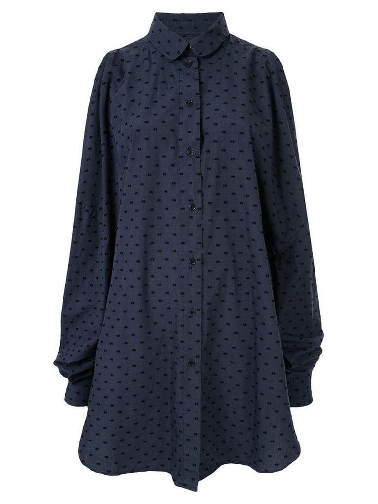 Henrik Vibskov Bumble cold-shoulder dress - Blue