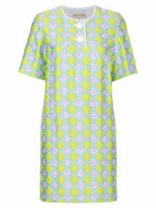 Emilio Pucci jacquard T-shirt dress - Yellow